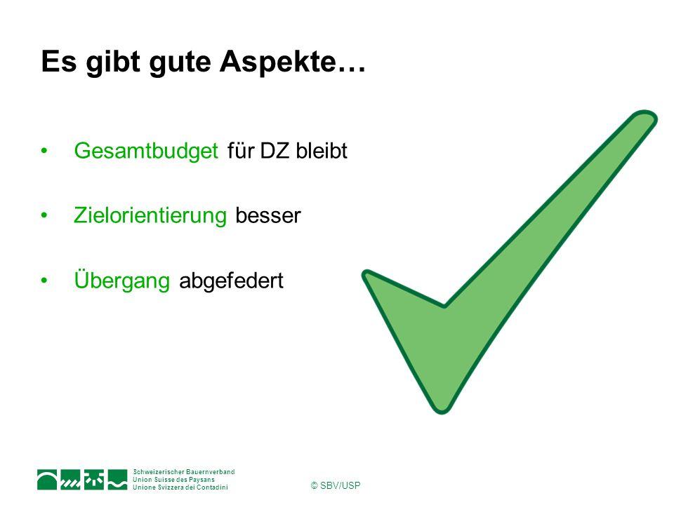 Es gibt gute Aspekte… Gesamtbudget für DZ bleibt