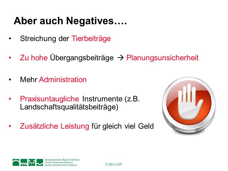 Aber auch Negatives…. Streichung der Tierbeiträge