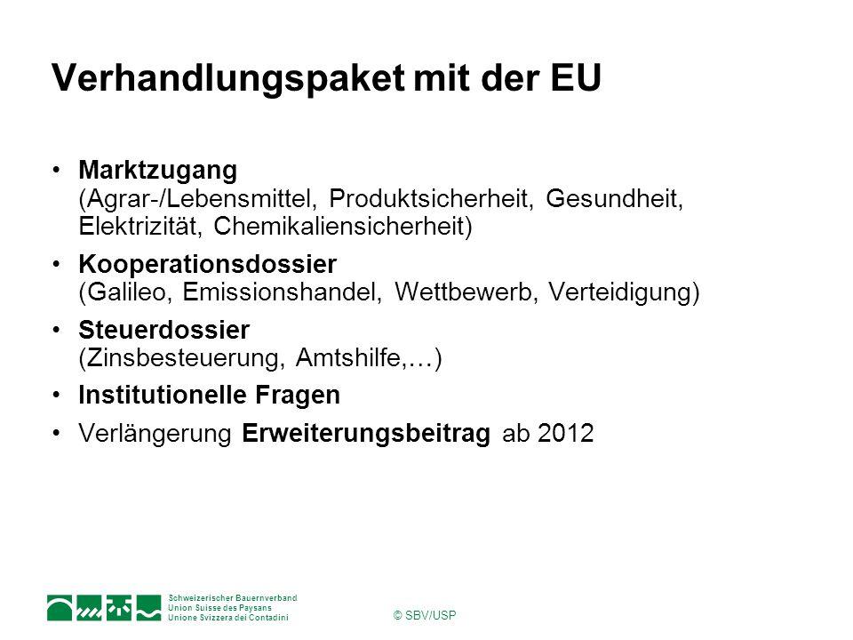 Verhandlungspaket mit der EU