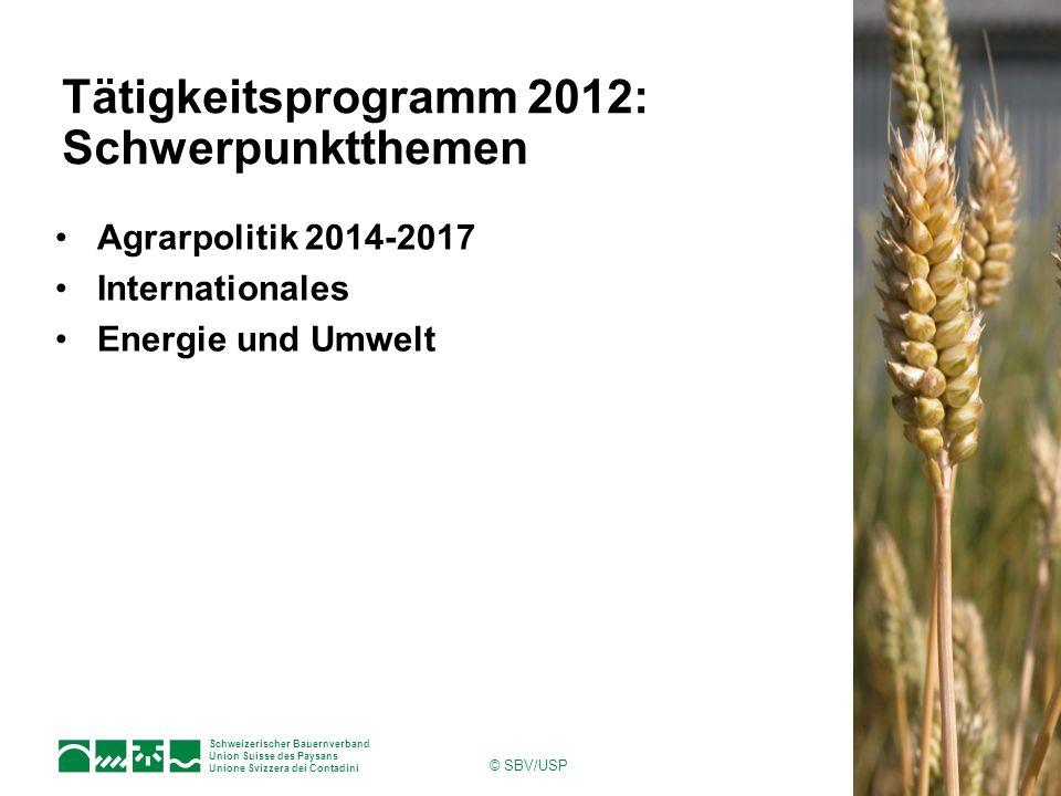 Tätigkeitsprogramm 2012: Schwerpunktthemen