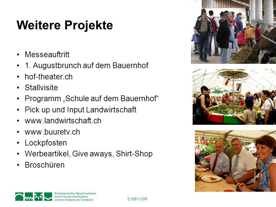 Weitere Projekte Messeauftritt 1. Augustbrunch auf dem Bauernhof