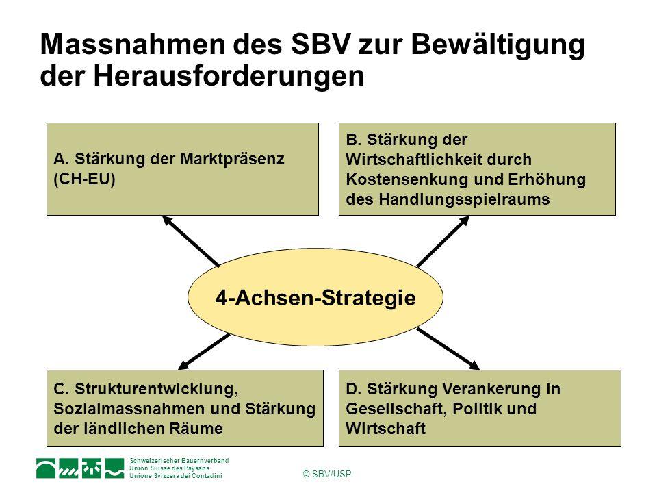 Massnahmen des SBV zur Bewältigung der Herausforderungen