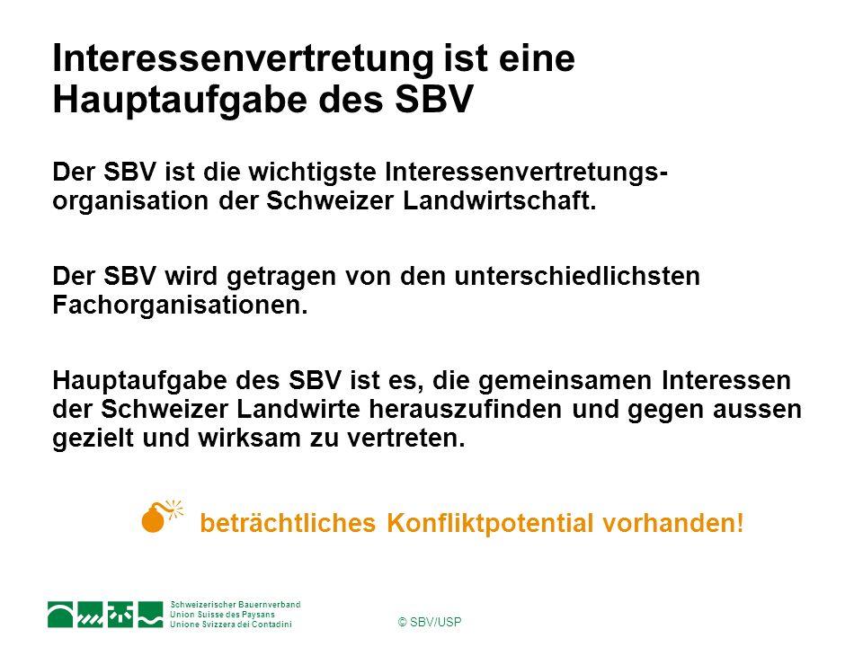 Interessenvertretung ist eine Hauptaufgabe des SBV