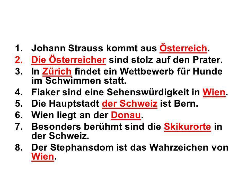 Johann Strauss kommt aus Österreich.