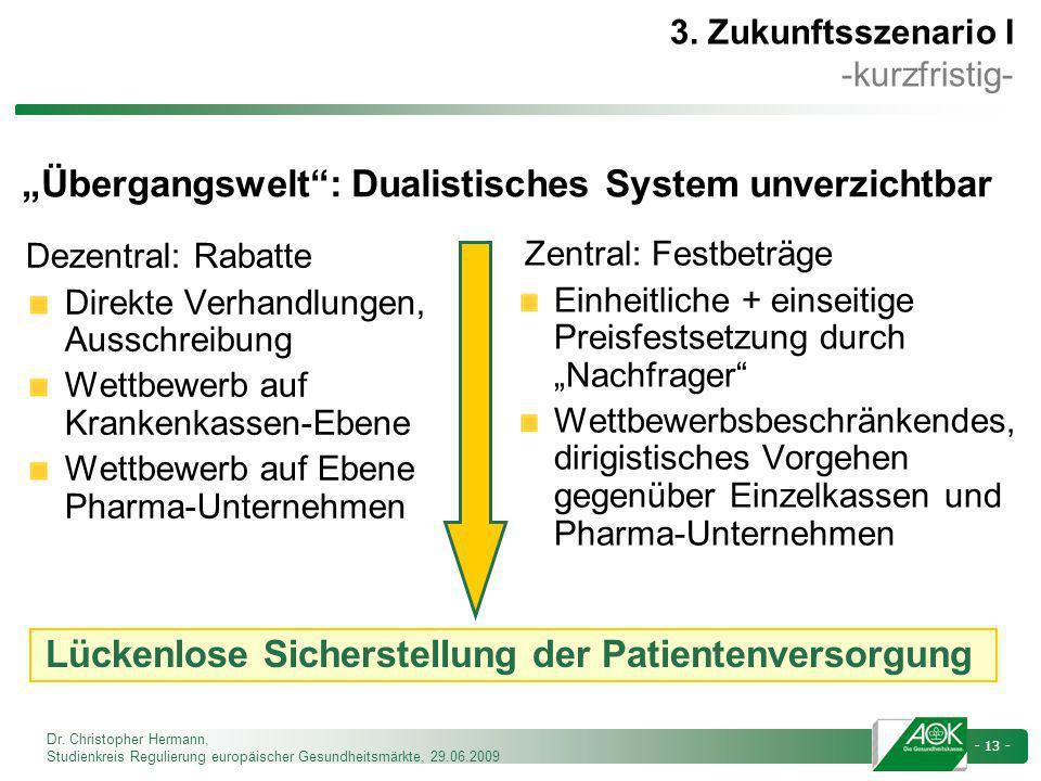 """""""Übergangswelt : Dualistisches System unverzichtbar"""