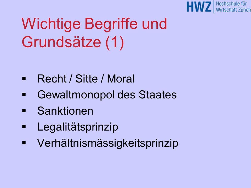 Wichtige Begriffe und Grundsätze (1)