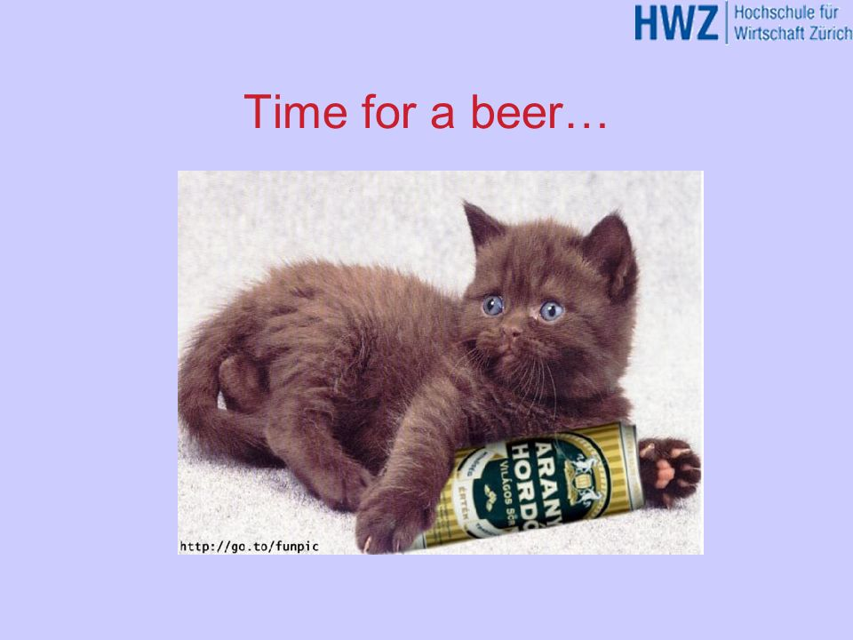 Time for a beer…