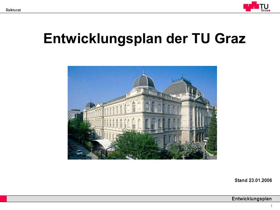 Entwicklungsplan der TU Graz