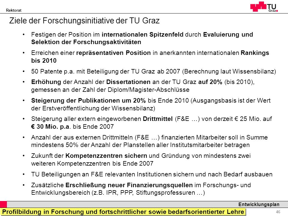 Ziele der Forschungsinitiative der TU Graz