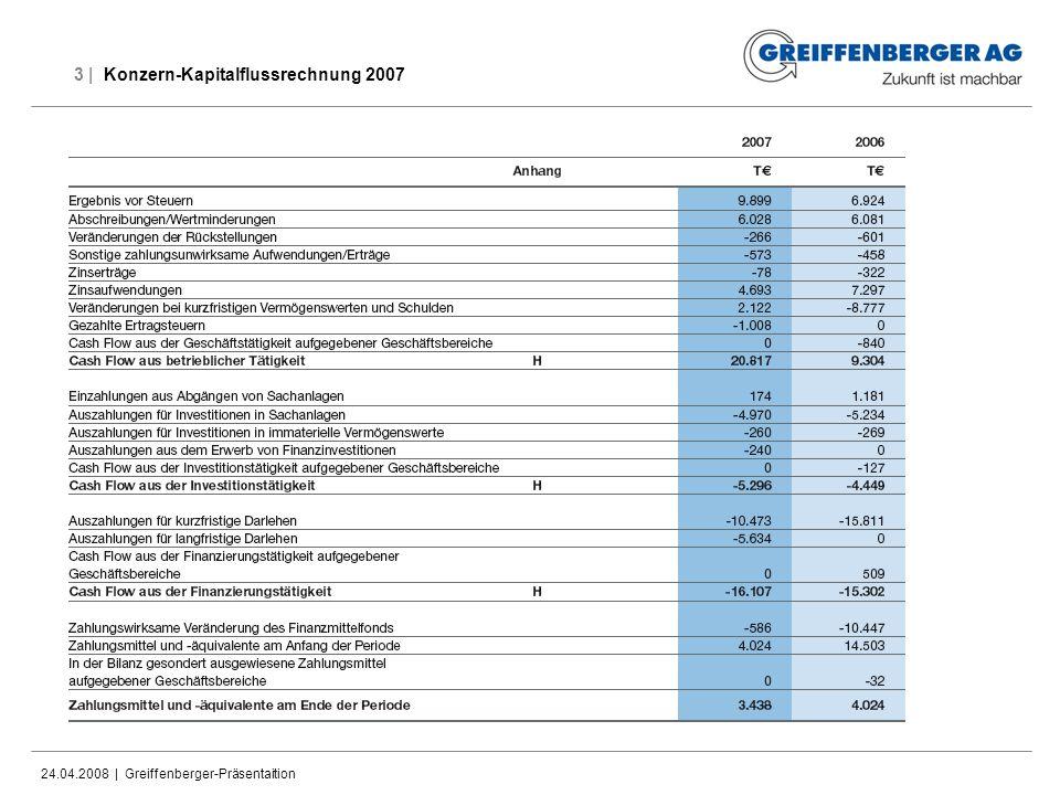 3 | Konzern-Kapitalflussrechnung 2007