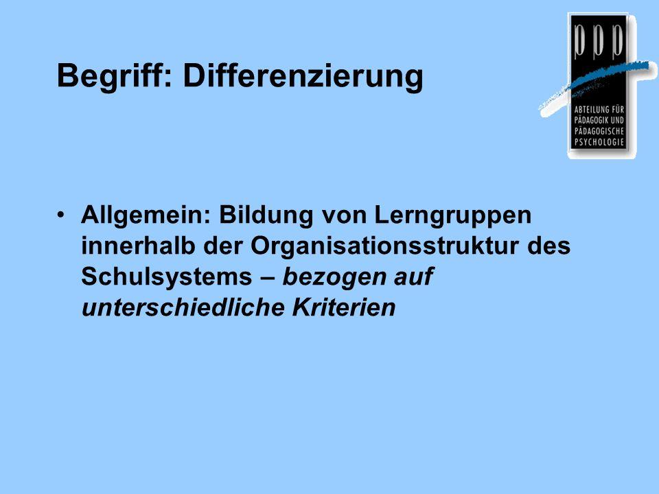 Begriff: Differenzierung