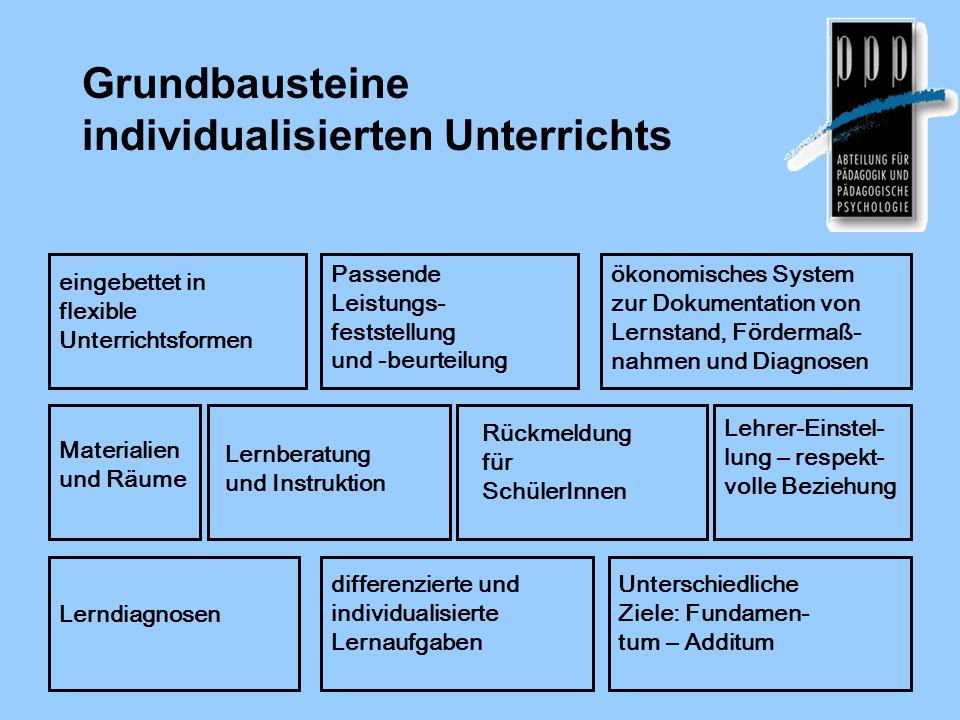 Grundbausteine individualisierten Unterrichts