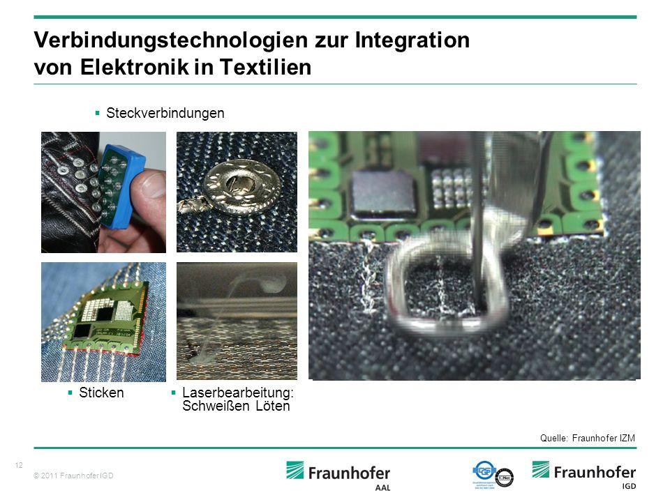 Verbindungstechnologien zur Integration von Elektronik in Textilien