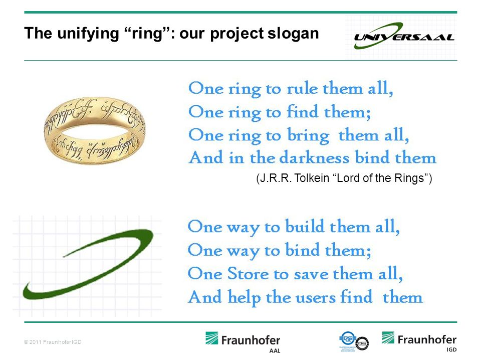 The unifying ring : our project slogan