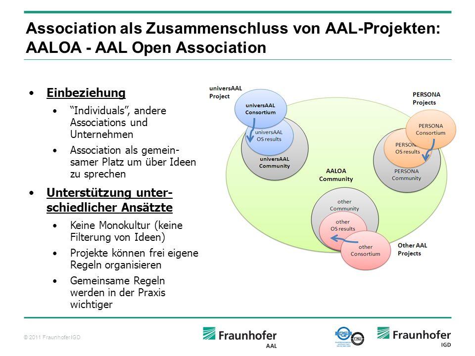 Association als Zusammenschluss von AAL-Projekten: AALOA - AAL Open Association