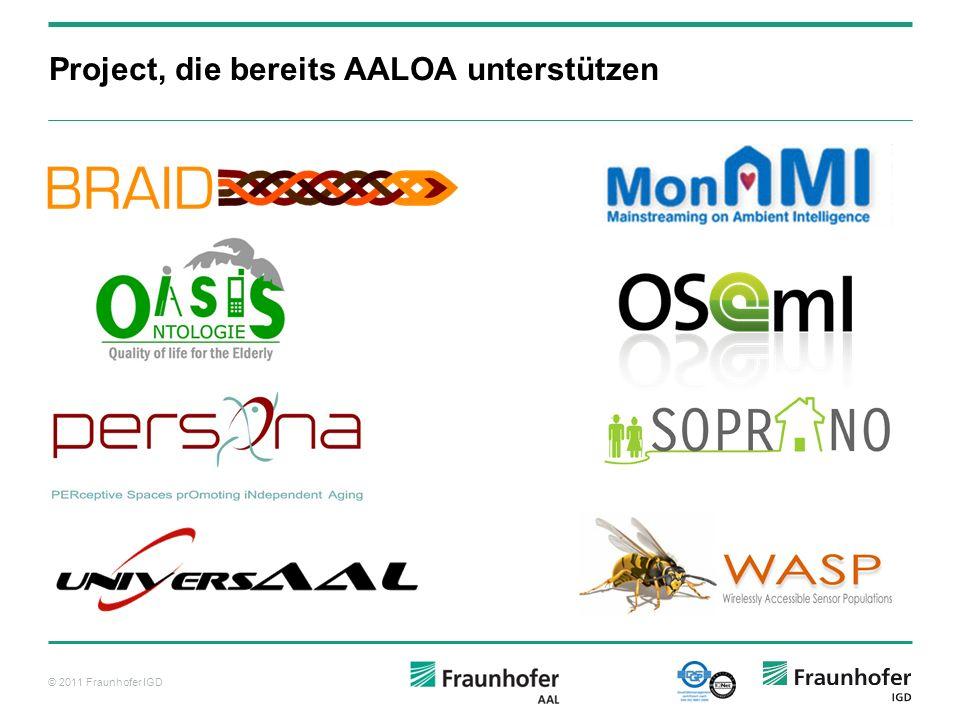 Project, die bereits AALOA unterstützen