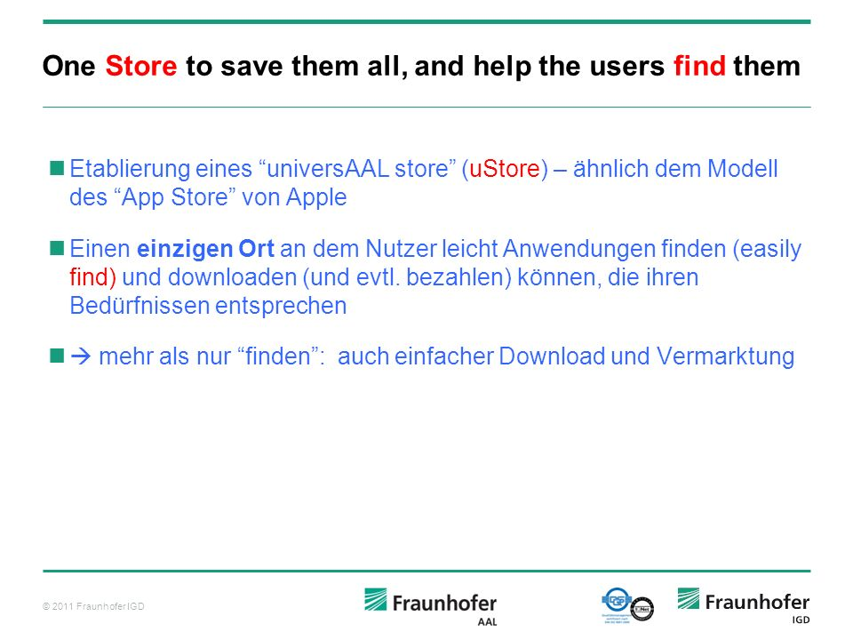 One Store to save them all, and help the users find them