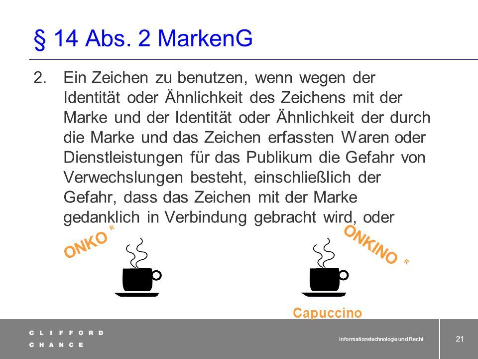 § 14 Abs. 2 MarkenG