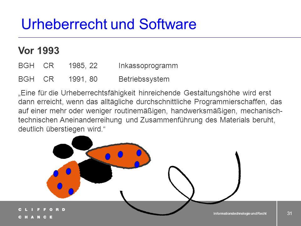 USA seit 1980 Copyright Act: Software ist urheberrechtsschutzfähig. WELT. seit 1977 Mustervorschriften der WIPO: Urheberrechtsschutz möglich.