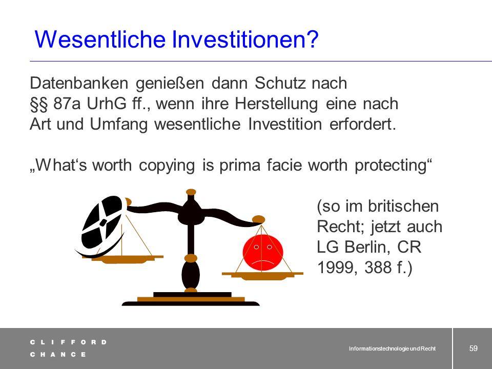 Schutz von Datenbanken vor Geltung der §§ 87a UrhG ff.