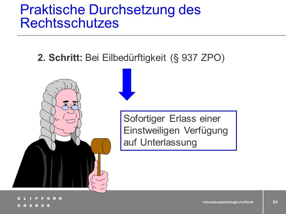 Praktische Durchsetzung des Rechtsschutzes