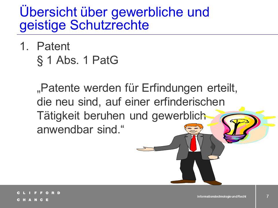 also: Software oder Website patentfähig