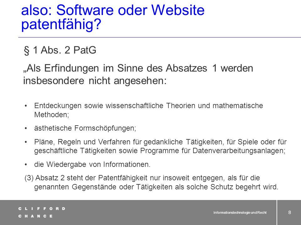 Damit ist nicht alles, was mit Software zu tun hat, nicht mehr patentfähig: