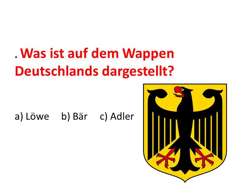 . Was ist auf dem Wappen Deutschlands dargestellt