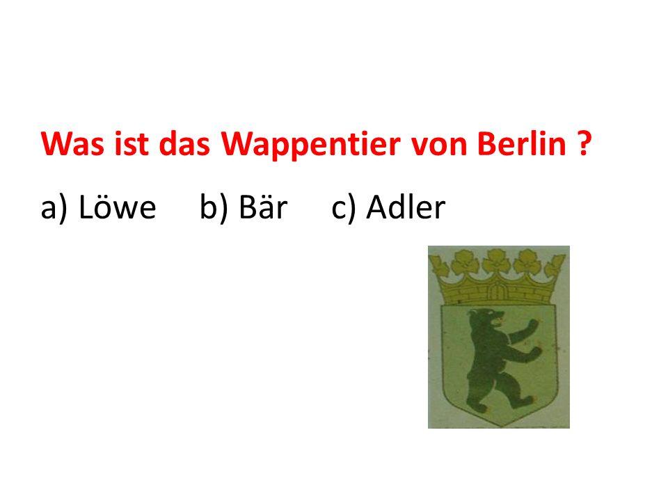 Was ist das Wappentier von Berlin