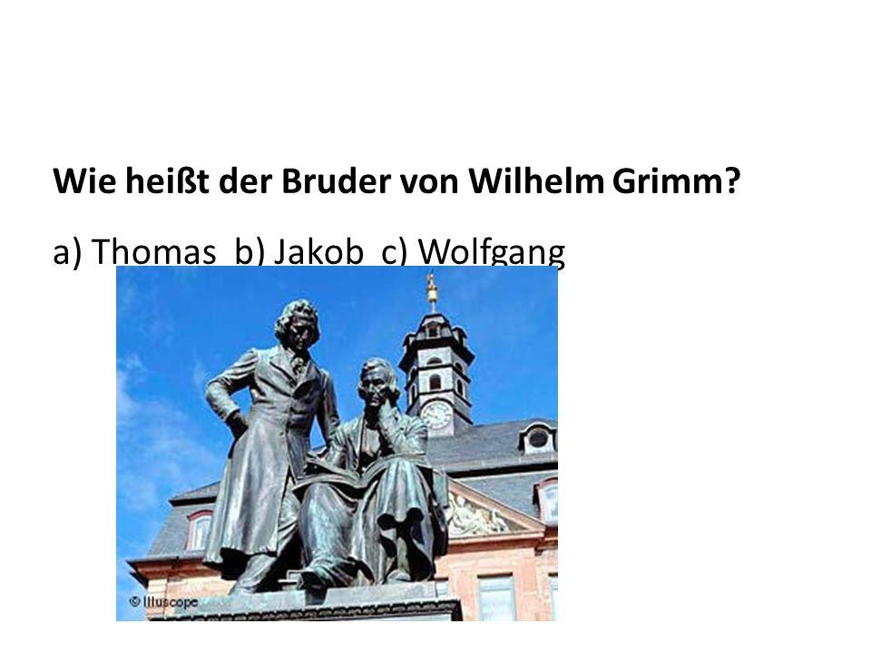 Wie heißt der Bruder von Wilhelm Grimm