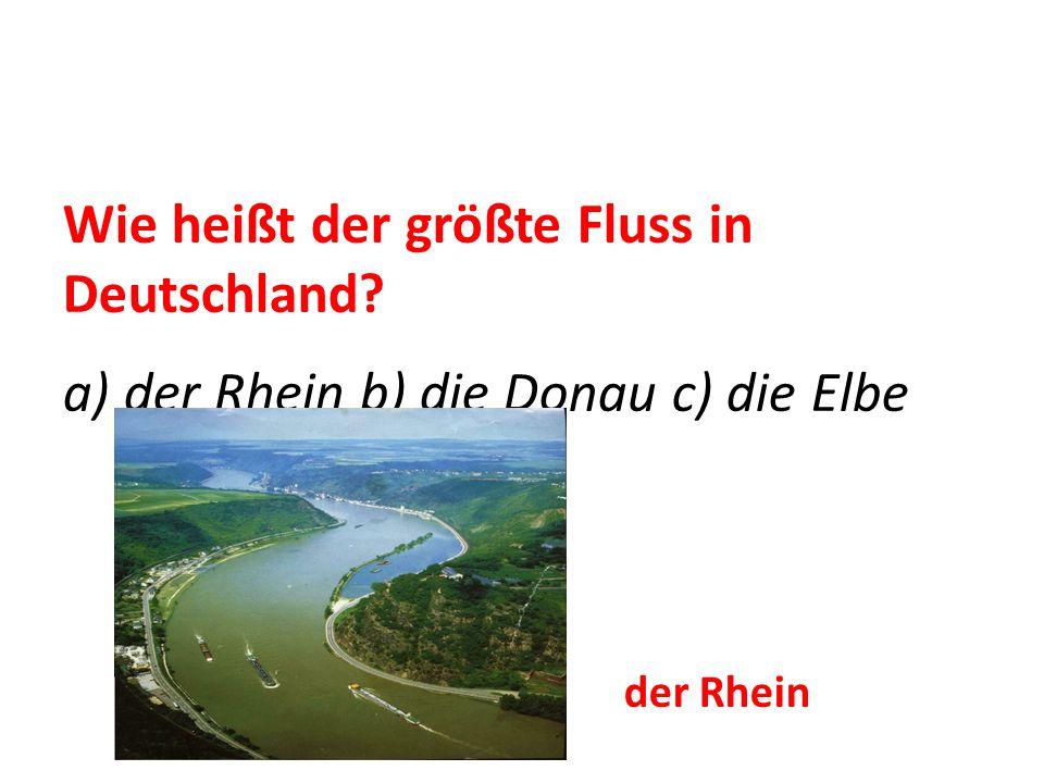 Wie heißt der größte Fluss in Deutschland