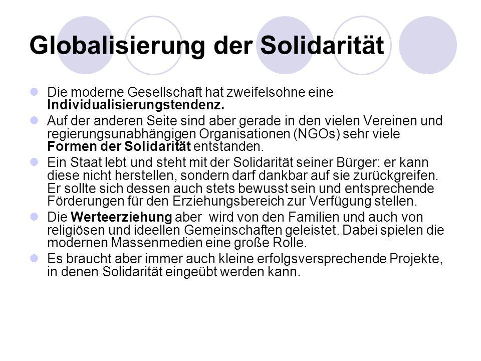 Globalisierung der Solidarität