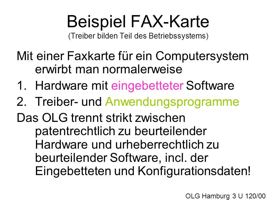 Beispiel FAX-Karte (Treiber bilden Teil des Betriebssystems)