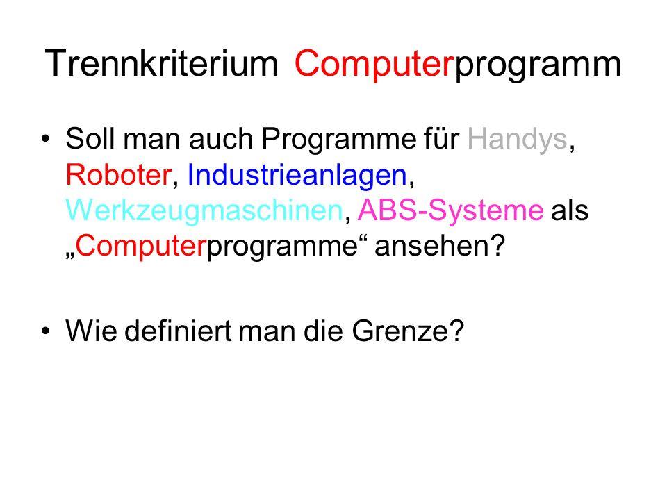 Trennkriterium Computerprogramm