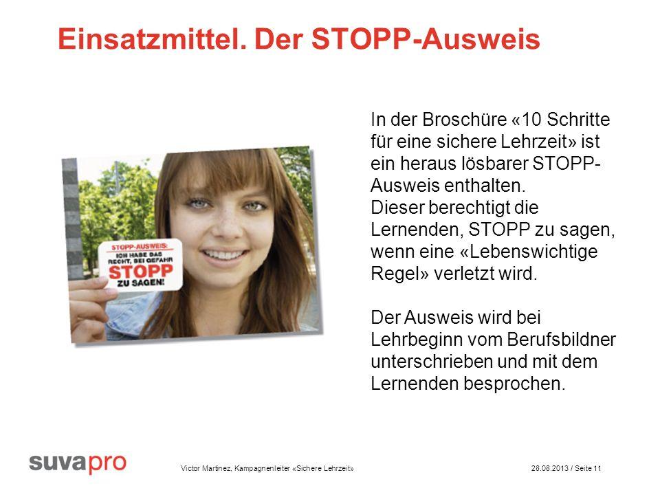 Einsatzmittel. Der STOPP-Ausweis