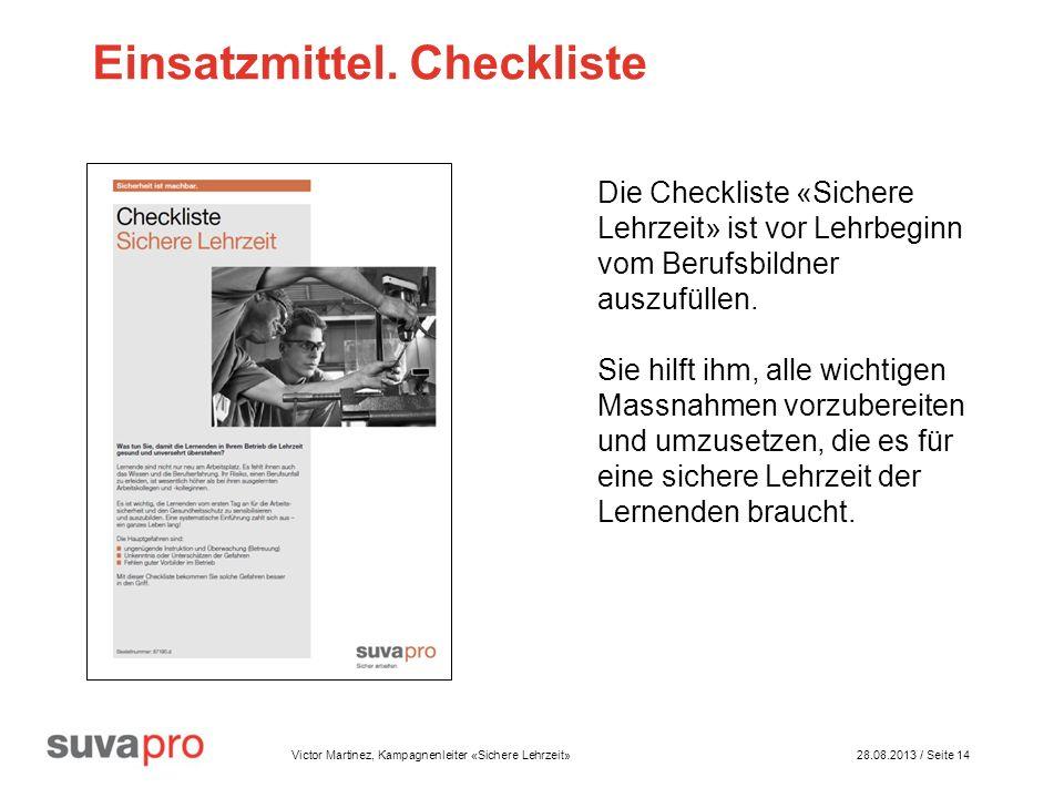 Einsatzmittel. Checkliste