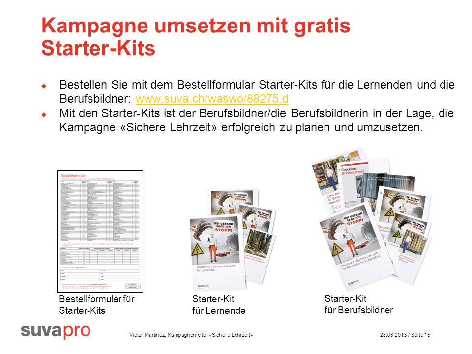 Kampagne umsetzen mit gratis Starter-Kits