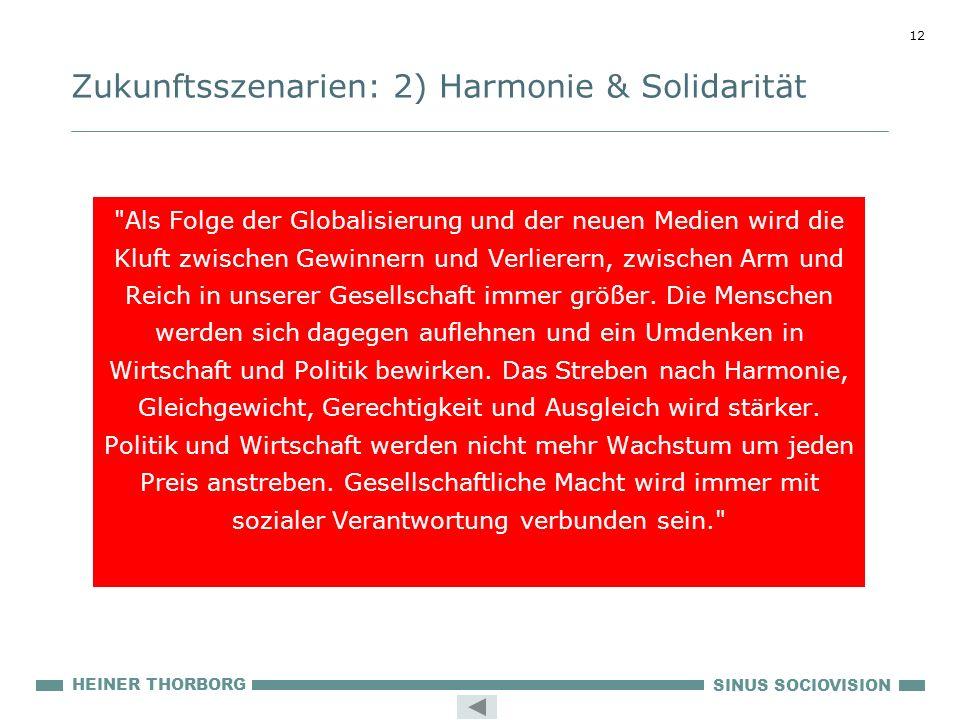 Zukunftsszenarien: 2) Harmonie & Solidarität