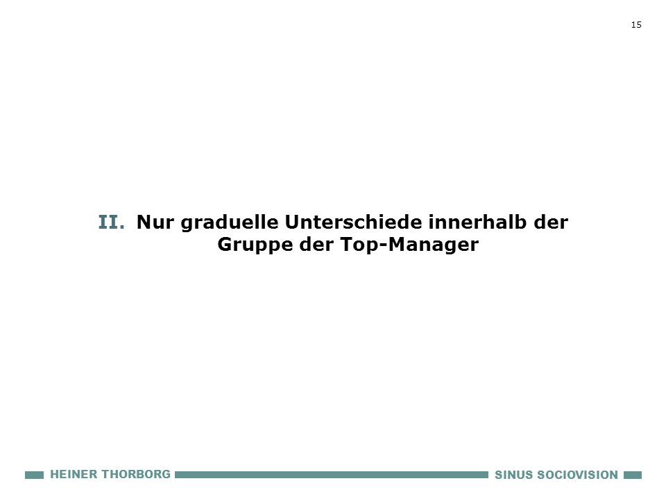 Nur graduelle Unterschiede innerhalb der Gruppe der Top-Manager