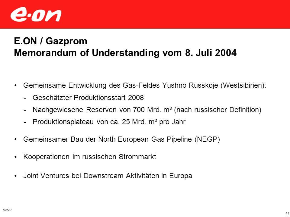 Umsatz/Marktkapitalisierung börsennotierter Energieversorger