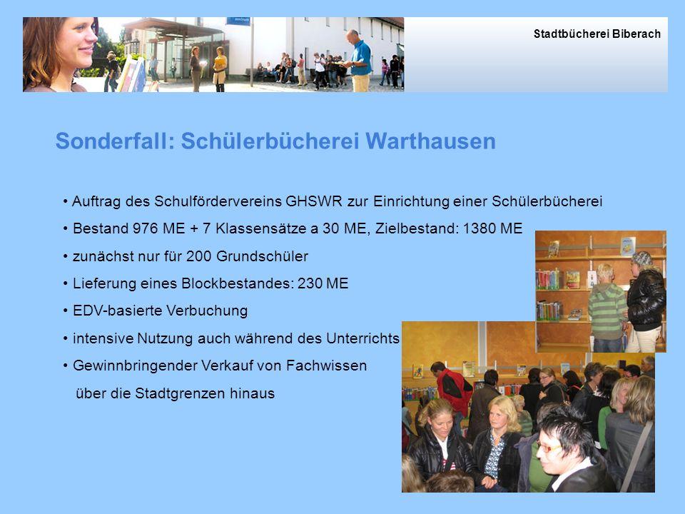 Sonderfall: Schülerbücherei Warthausen
