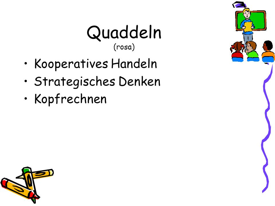Quaddeln (rosa) Kooperatives Handeln Strategisches Denken Kopfrechnen
