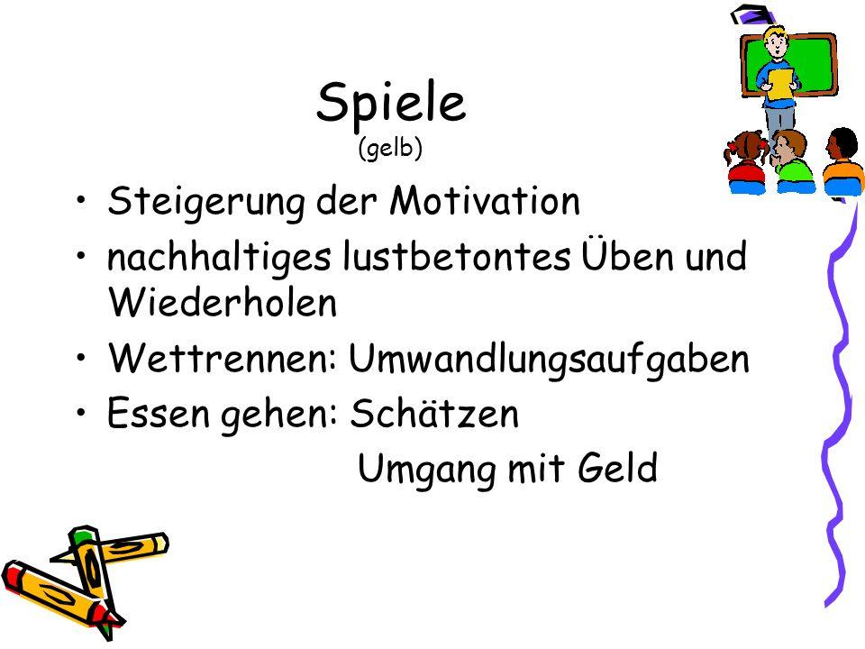 Spiele (gelb) Steigerung der Motivation