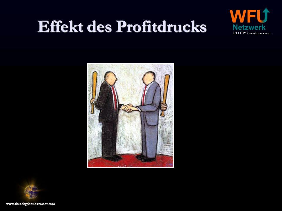 Effekt des Profitdrucks