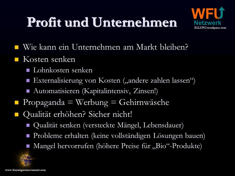 Profit und Unternehmen