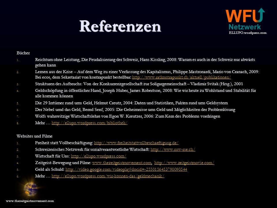 Referenzen Bücher. Reichtum ohne Leistung, Die Feudalisierung der Schweiz, Hans Kissling, 2008: Warum es auch in der Schweiz nur abwärts gehen kann.