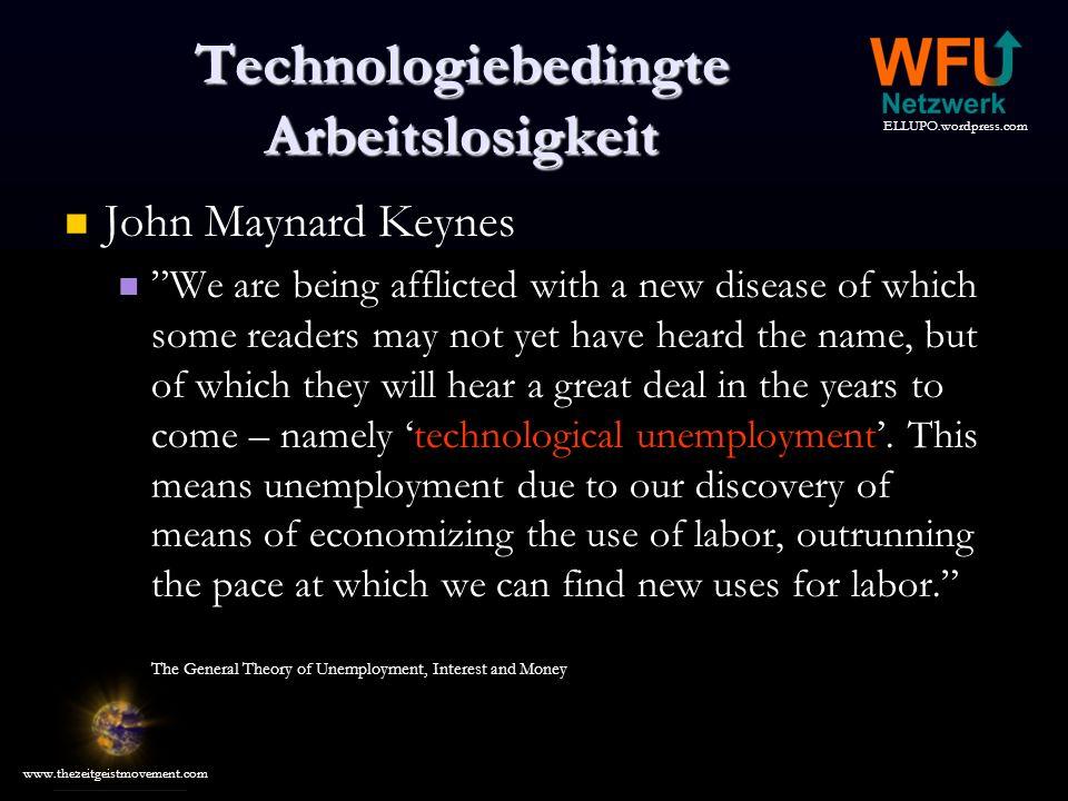 Technologiebedingte Arbeitslosigkeit