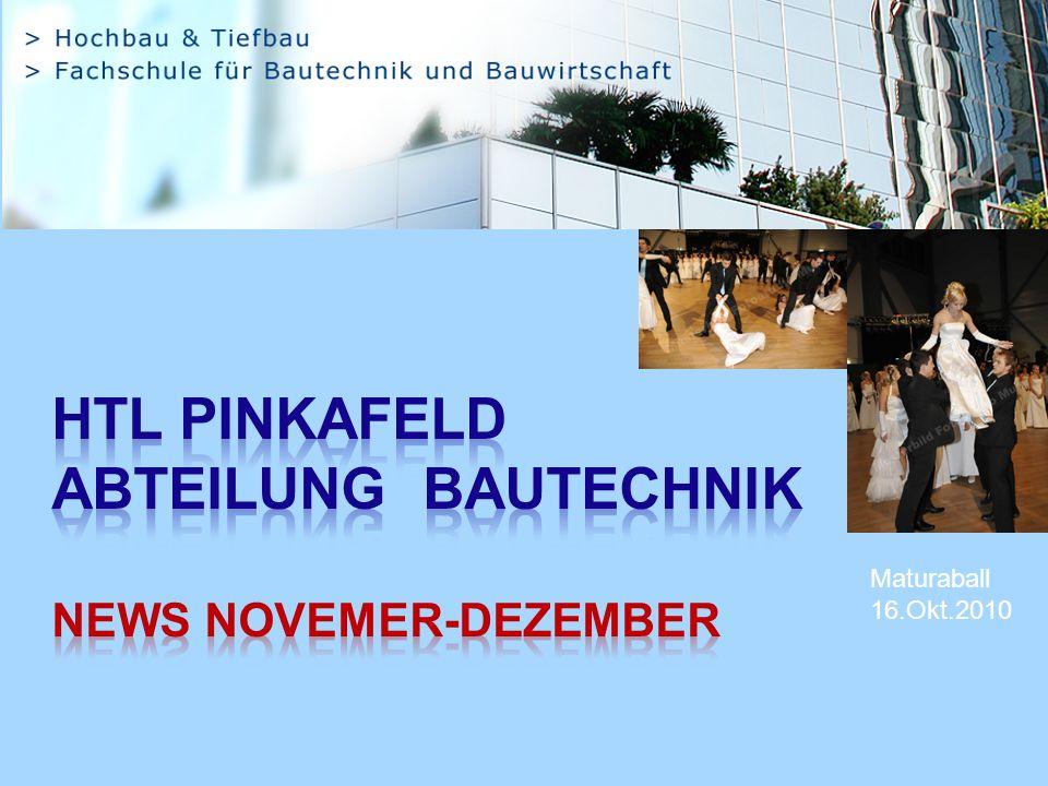 HTL Pinkafeld Abteilung Bautechnik NEWS Novemer-Dezember