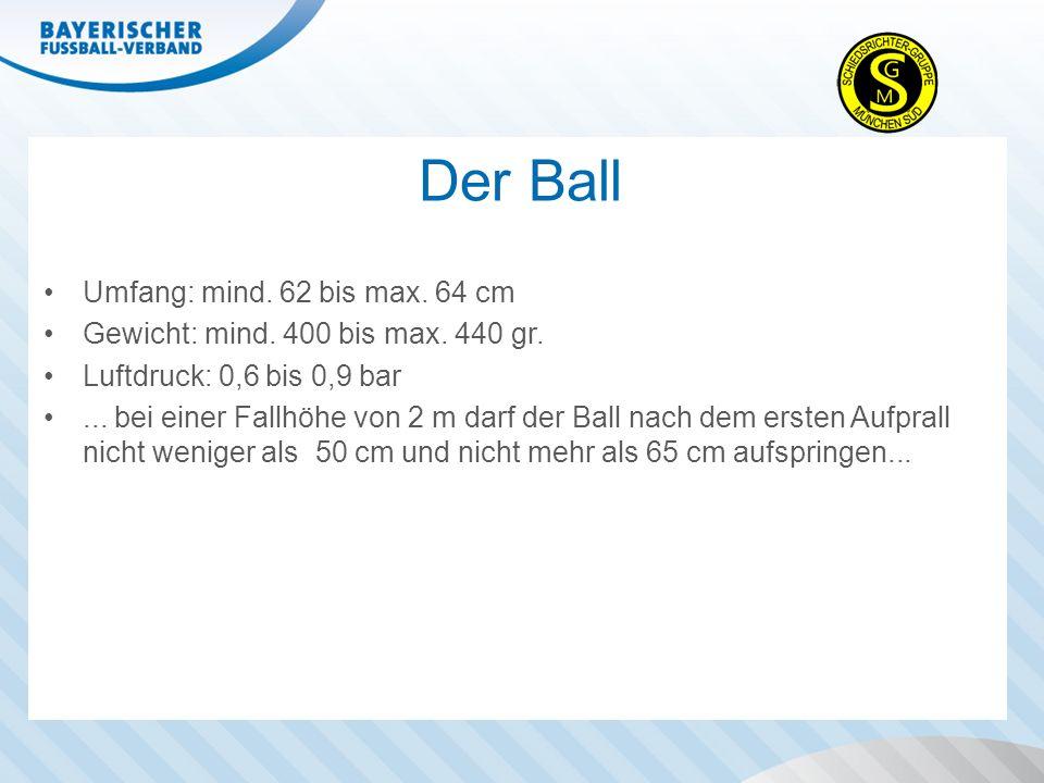 Der Ball Umfang: mind. 62 bis max. 64 cm