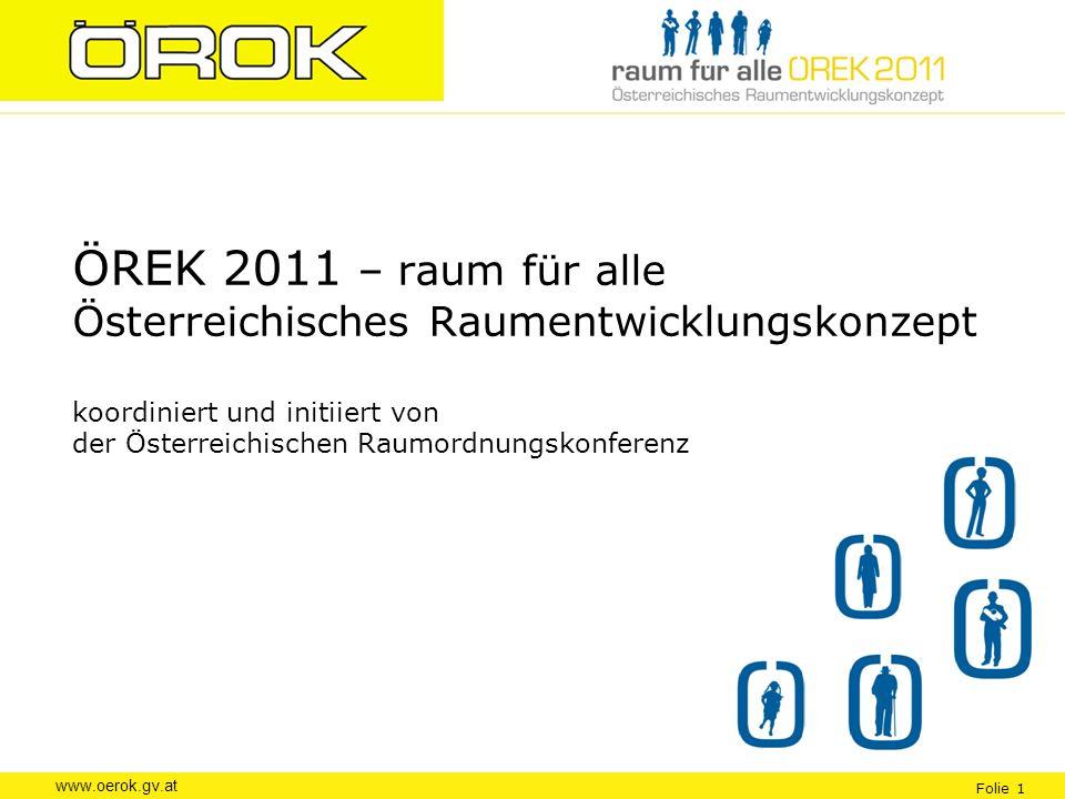 ÖREK 2011 – raum für alle Österreichisches Raumentwicklungskonzept koordiniert und initiiert von der Österreichischen Raumordnungskonferenz